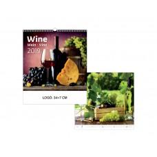 Wine - Borok falinaptár