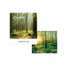 Erdők falinaptár