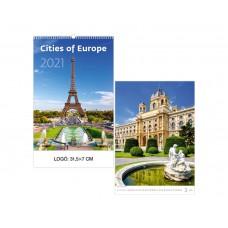 Európa városai falinaptár