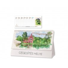 Magyarország akvarell asztali naptár
